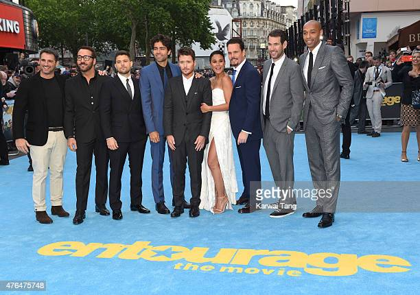 Stephen Levinson Jeremy Piven Jerry Ferrara Adrian Grenier Emmanuelle Chriqui Kevin Connolly Kevin Dillon Doug Ellin and Thierry Henry attend the...