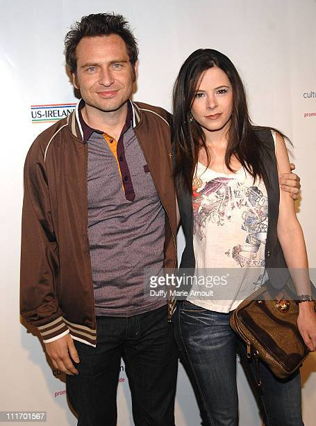 Stephen Lord and Elaine Cassidy attend the 5th Annual Oscar Wilde Honoring Irish In Film PreAcademy Awards Cocktail at The Wilshire Ebell Theatre on...