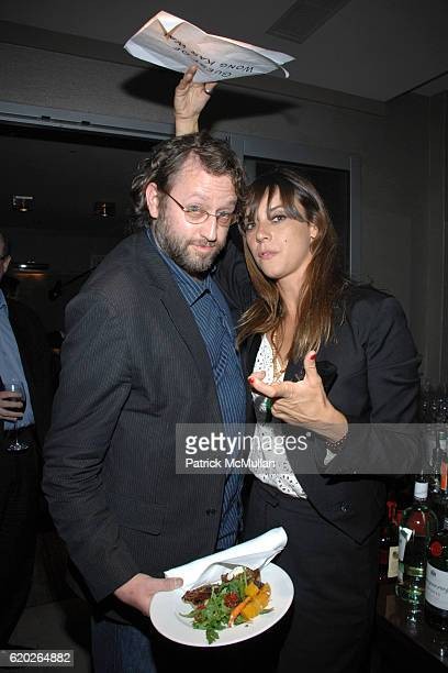 Stephen Lovekin and Chan Marshall attend THE CINEMA SOCIETY IWC host the after party for 'MY BLUEBERRY NIGHTS' at Penthouse on April 2 2008 in New...