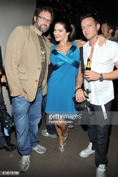 Stephen Lovekin Laura Harring and Jamie McCarthy attend COLUMBIA PICTURES THE CINEMA SOCIETY host the after party for 'THE SOCIAL NETWORK' at...