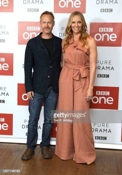 Stephen Mackintosh and Toni Collette during a photocall for BBC One's 'Wanderlust' held at the Covent Garden Hotel on July 30 2018 in London England