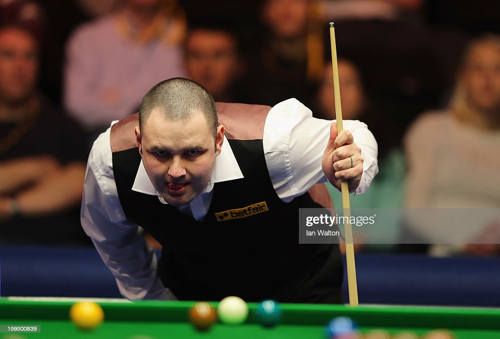 Stephen Maguire of Scotland looks on during his first round match against Graeme Dott of Scotland at Alexandra Palace on January 14, 2013 in London, England.