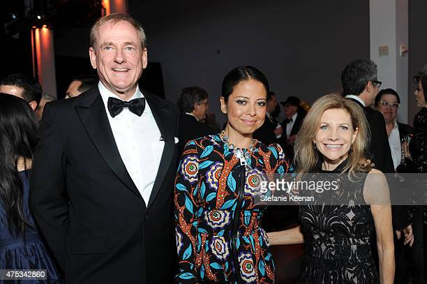 Stephen Maguire Sylvia Chivaratanond and Jennifer Maguire attend the 2015 MOCA Gala presented by Louis Vuitton at The Geffen Contemporary at MOCA on...