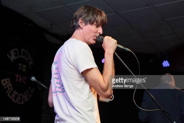 Stephen Malkmus of Stephen Malkmus And The Jicks performs on stage at Brudenell Social Club on August 2, 2012 in Leeds, United Kingdom.