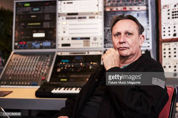 Stephen Mallinder of British electronica group Wrangler, photographed at Memetune Studios in Cornwall, on March 10, 2020.