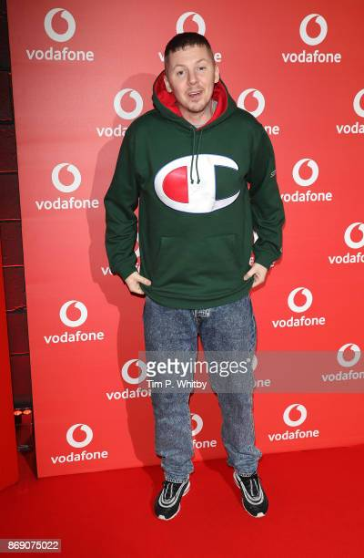 Stephen Manderson aka Professor Green attends the Vodafone Passes Launch held at The Bankside Vaults on November 1 2017 in London England