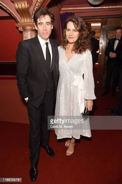 Stephen Mangan and Louise Delamere attend the after party of the 65th Evening Standard Theatre Awards In Association With Michael Kors at London...