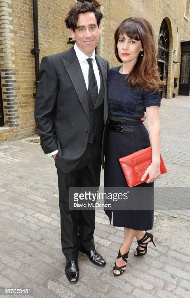 Stephen Mangan and Louise Delamere attend the BAFTA Television Craft Awards at The Brewery on April 27 2014 in London England