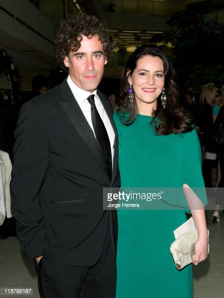 Stephen Mangan and Louise Delamere attend the The Philips British Academy Television Awards Nominees Party at Coutts Bank on May 5 2011 in London...