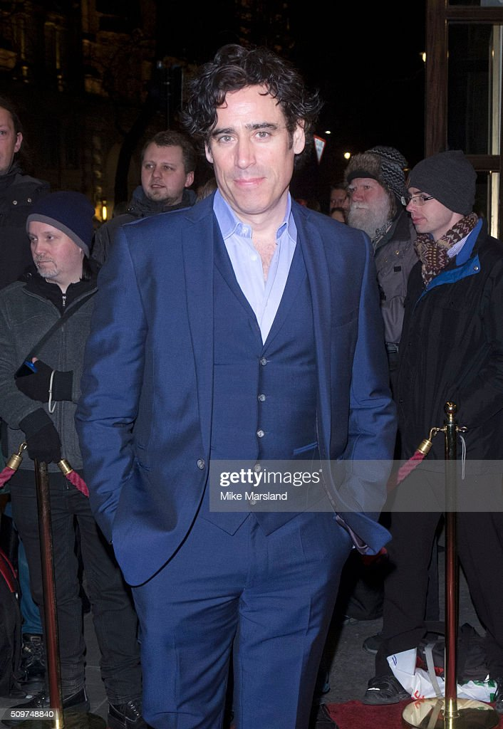 Stephen Mangan attends the World Premiere of 'End Of Longing', written by and starring Matthew Perry at Playhouse Theatre on February 11, 2016 in London, England.