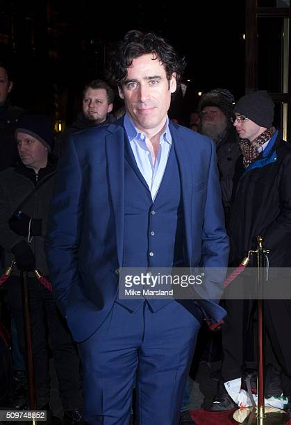 Stephen Mangan attends the World Premiere of 'End Of Longing' written by and starring Matthew Perry at Playhouse Theatre on February 11 2016 in...