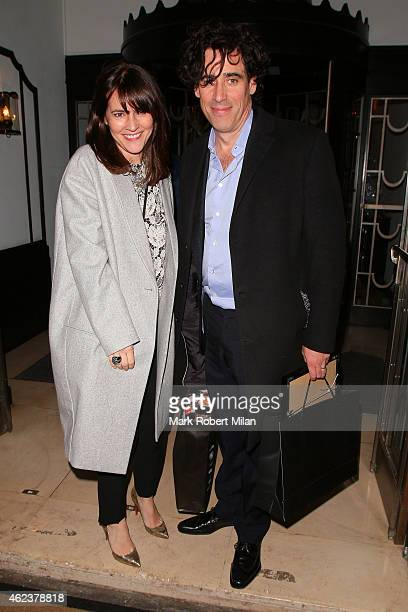 Stephen Mangan leaving Claridges hotel on January 27 2015 in London England