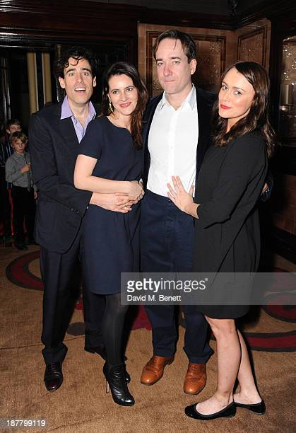 Stephen Mangan Louise Delamare Matthew Macfadyen and Keely Hawes attends an after party celebrating the press night performance of 'Perfect Nonsense'...