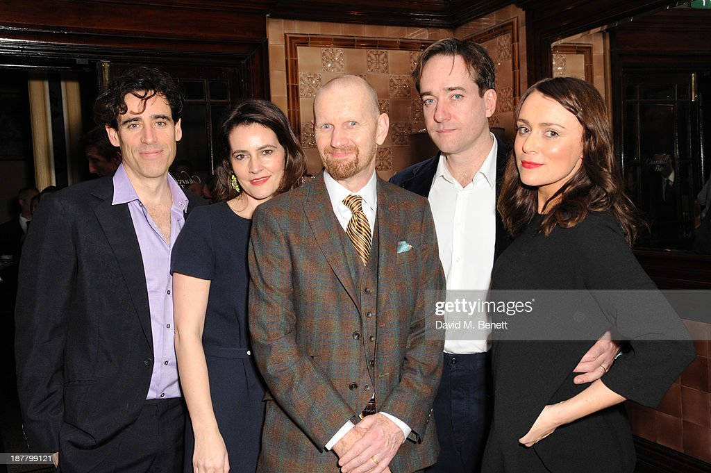 Stephen Mangan, Louise Delamare, Sean Foley, Matthew Macfadyen and Keely Hawes attends an after party celebrating the press night performance of 'Perfect Nonsense' at the The Royal Horseguards on November 12, 2013 in London, England.