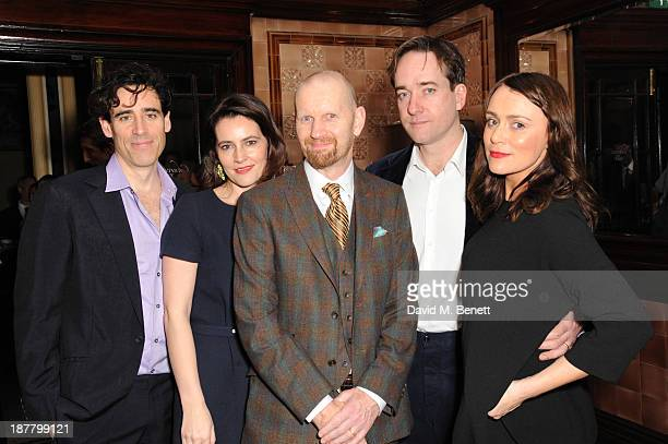 Stephen Mangan Louise Delamare Sean Foley Matthew Macfadyen and Keely Hawes attends an after party celebrating the press night performance of...
