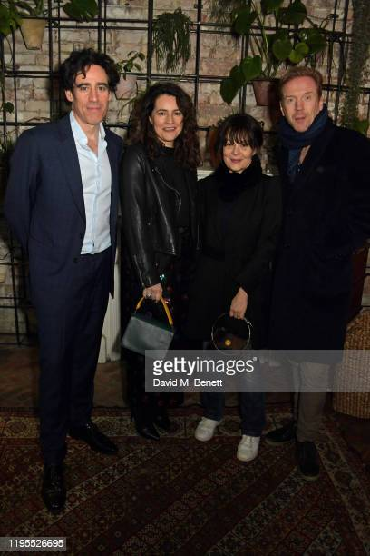 "Stephen Mangan, Louise Delamere, Helen McCrory and Damian Lewis attend the press night after party for ""Uncle Vanya"" at Sophie's on January 23, 2020..."