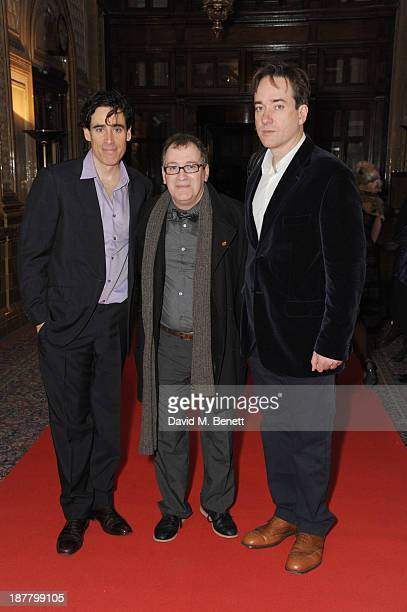 Stephen Mangan Mark Hadfield and Matthew Macfadyen attends an after party celebrating the press night performance of 'Perfect Nonsense' at the The...