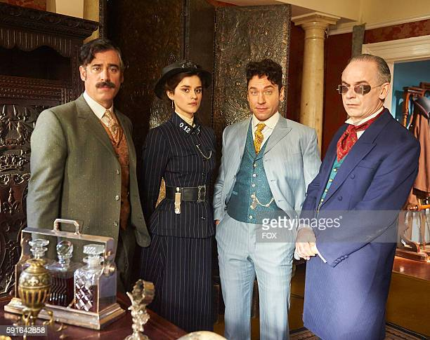 Stephen Mangan Rebecca Liddiard Michael Weston and Paul Ritter in the Strigoi episode of HOUDINI DOYLE airing Monday June 20 on FOX