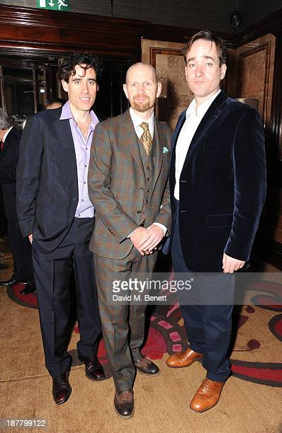 Stephen Mangan Sean Foley and Matthew Macfadyen attends an after party celebrating the press night performance of 'Perfect Nonsense' at the The Royal...