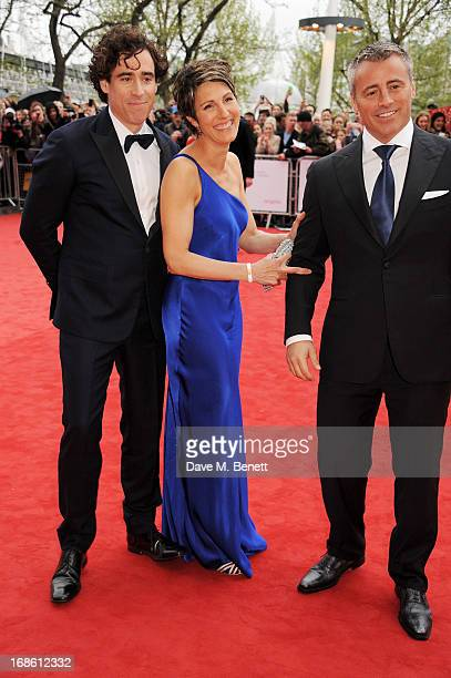 Stephen Mangan Tamsin Greig and Matt Leblanc attend the Arqiva British Academy Television Awards 2013 at the Royal Festival Hall on May 12 2013 in...