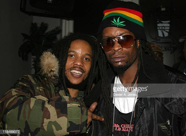 Stephen Marley and Mr Cheeks during Stephen Marley in Concert at Toads Place March 21 2007 at Toads Place in New Haven Connecticut United States