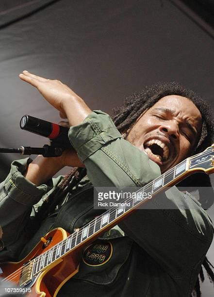 Stephen Marley during 38th Annual New Orleans Jazz Heritage Festival Presented by Shell Stephen Marley at New Orleans Fair Grounds in New Orleans...