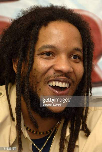 Stephen Marley during Stephen Marley Performance and CD Signing at J and R Music World at J and R Music World in New York City NY United States