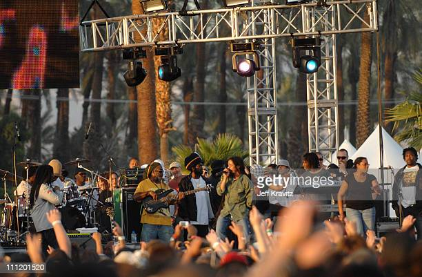Stephen Marley Featuring Damian 'Jr Gong' Marley during Coachella Valley Music and Arts Festival Day One Stephen Marley Featuring Damian 'Jr Gong'...