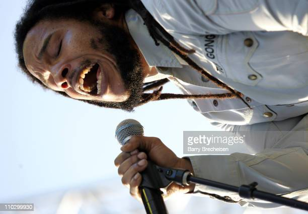Stephen Marley Featuring Jr Gong during 2007 Coachella Valley Music and Arts Festival Day 1 at Empire Polo Field in Indio California United States