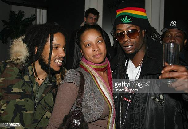Stephen Marley guest and Mr Cheeks during Stephen Marley in Concert at Toads Place March 21 2007 at Toads Place in New Haven Connecticut United States