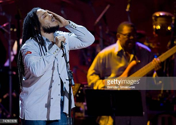 Stephen Marley performs during the Library Of Congress Gershwin Prize For Popular Song Gala at the Warner Theater May 23 2007 in Washington DC Paul...