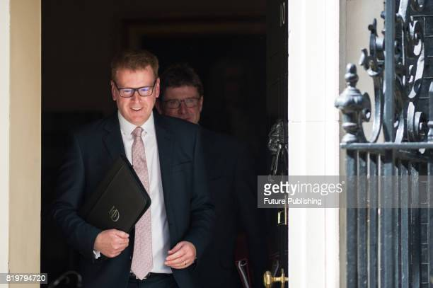 Stephen Martin director general of the Institute of Directors and Greg Clark Secretary of State for Business Energy and Industrial Strategy leave 10...