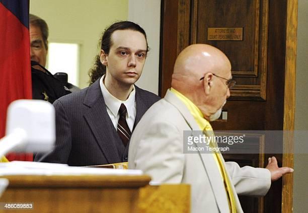 Stephen McDaniel enters the courtroom Monday morning to enter a guilty plea for murdering Lauren Teresa Giddings