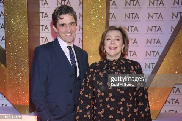 Stephen McGann and Annabelle Apsion attend the National Television Awards 2020 at The O2 Arena on January 28 2020 in London England