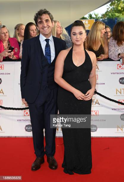 Stephen McGann and Megan Cusack attend the National Television Awards 2021 at The O2 Arena on September 09, 2021 in London, England.