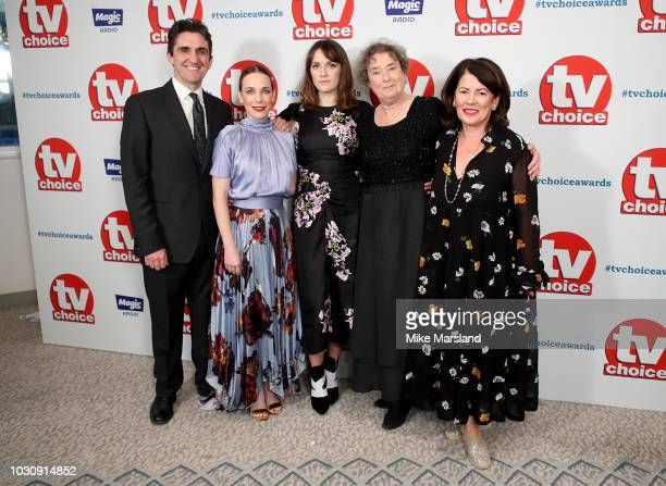 Stephen McGann Laura Main Charlotte Ritchie Linda Bassett and Pippa Harris from Call the Midwife attend the TV Choice Awards at The Dorchester on...