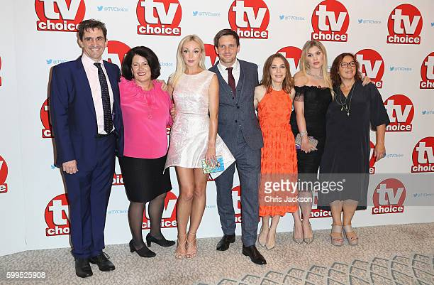 Stephen McGann Pippa Harris Helen George Jack Ashton Laura Main Emerald Fennell and Annabelle Apsion arrive for the TV Choice Awards at The...