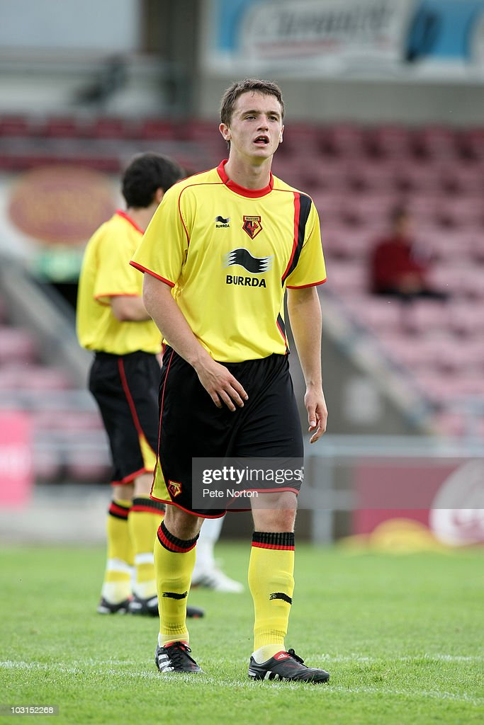 Stephen McGinn of Watford in action during the pre season match between Northampton Town and Watford at Sixfields Stadium on July 24, 2010 in Northampton, England.