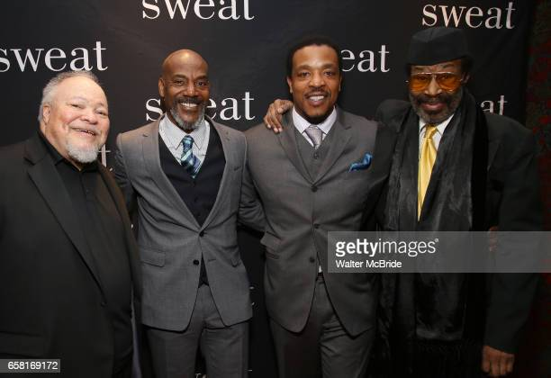 Stephen McKinley Henderson John Earl Jelks Russell Hornsby and Anthony Chisholm attend the after party for the Broadway Opening Night of 'Sweat' at...