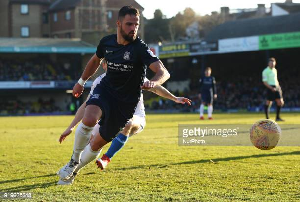 Stephen McLaughlin of Southend United during League One match between Southend United against Portsmouth at Roots Hall stadium Southend England on 17...