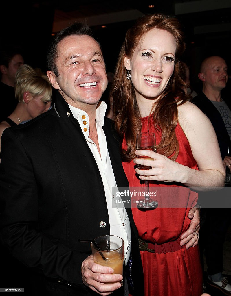 Stephen Mear (L) and Clare Foster attend an after party celebrating the press night performance of the Menier Chocolate Factory's 'Merrily We Roll Along', following its transfer to the Harold Pinter Theatre, at Grace Restaurant on May 1, 2013 in London, England.