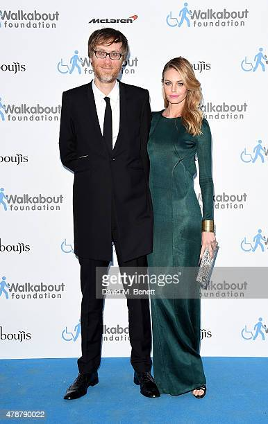 Stephen Merchant and Christine Marzano at the inaugural Walkabout Foundation gala drinks by Boujis London at Natural History Museum on June 27 2015...