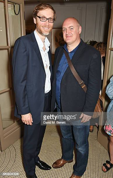 Stephen Merchant and Dara O'Briain attend an after party following the press night performance of The Mentalists at Kettner's on July 13 2015 in...