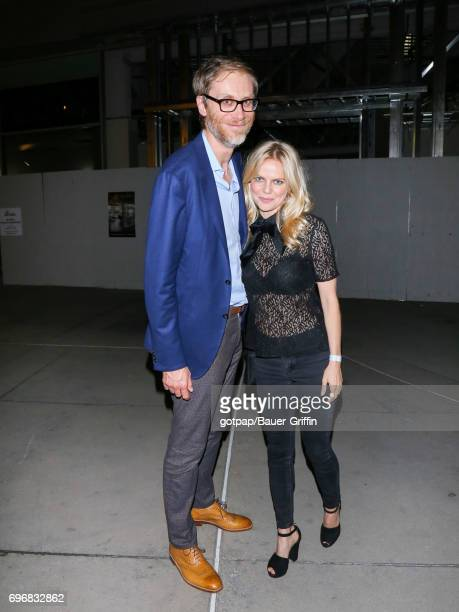 Stephen Merchant and Mircea Monroe are seen on June 16 2017 in Los Angeles California