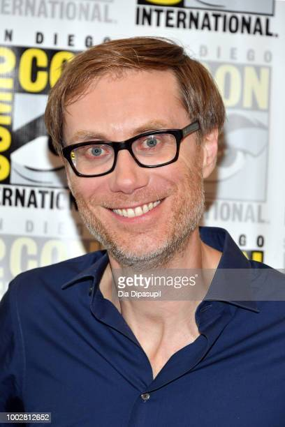 Stephen Merchant attends Adult Swim's 'Dream Corp LLC' Press Line during ComicCon International 2018 at Hilton Bayfront on July 20 2018 in San Diego...