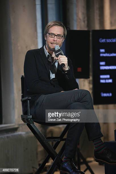 Stephen Merchant attends AOL's BUILD Speaker Series Presents In Conversation With Stephen Merchant at AOL Studios In New York on November 19 2014 in...