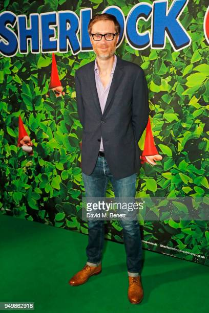 Stephen Merchant attends the Family Gala Screening of Sherlock Gnomes hosted by Sir Elton John and David Furnish at Cineworld Leicester Square on...