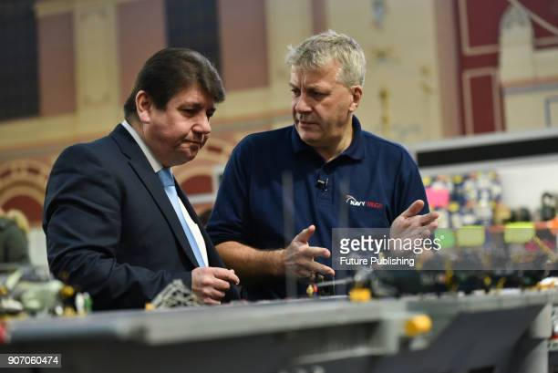 Stephen Metcalfe MP the new Government Envoy for the Year of Engineering on January 19 2018 in London England The London Model Engineering Exhibition...