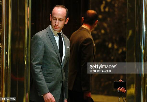 Stephen Miller senior policy advisor to Presidentelect Donald Trump arrives at Trump Tower on January 6 2017 in New York / AFP / KENA BETANCUR