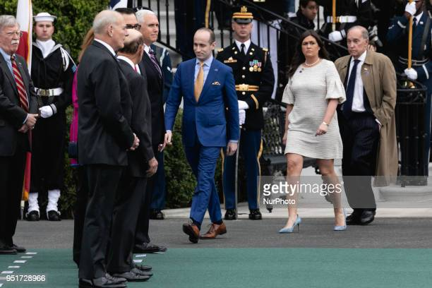 Stephen Miller White House Senior Advisor for Policy White House Press Secretary Sarah Huckabee Sanders and Larry Kudlow White House Director of the...